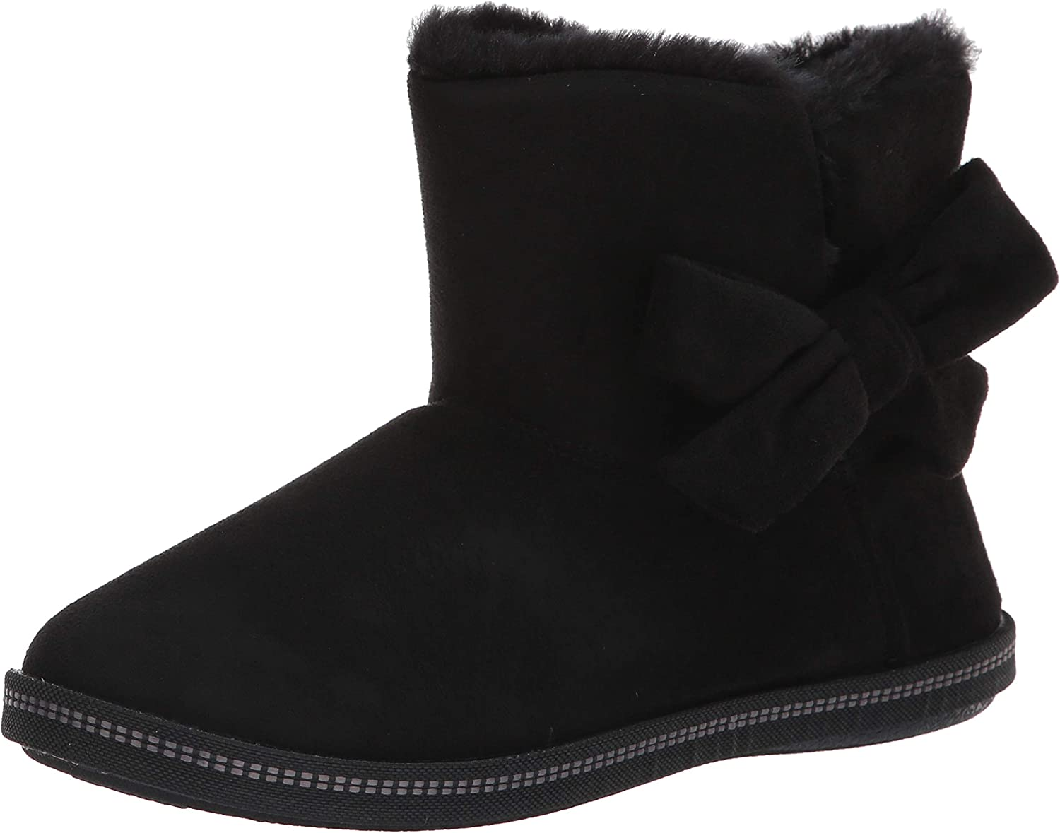 Skechers Today's only Women's Cozy Campfire-Microfiber Jacksonville Mall Slipper Boot with Bow
