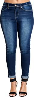 Womens Dark Blue Ankle Highrise Luxe Jean