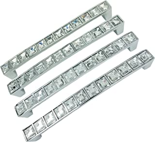 (128mm) - 4x Crystal Cabinet Pull Handle Bar Drawer Cabinet Door Handle 128mm by Micro Trader