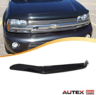 AUTEX Hood Shields Bug Deflector Compatible with Chevrolet Trailblazer 2002 2003 2004 2005 2006 2007 2008 2009 Hood Protector Deflector