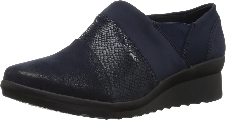 Clarks - Damen Caddell Denali Schuh, 37 EUR, Navy