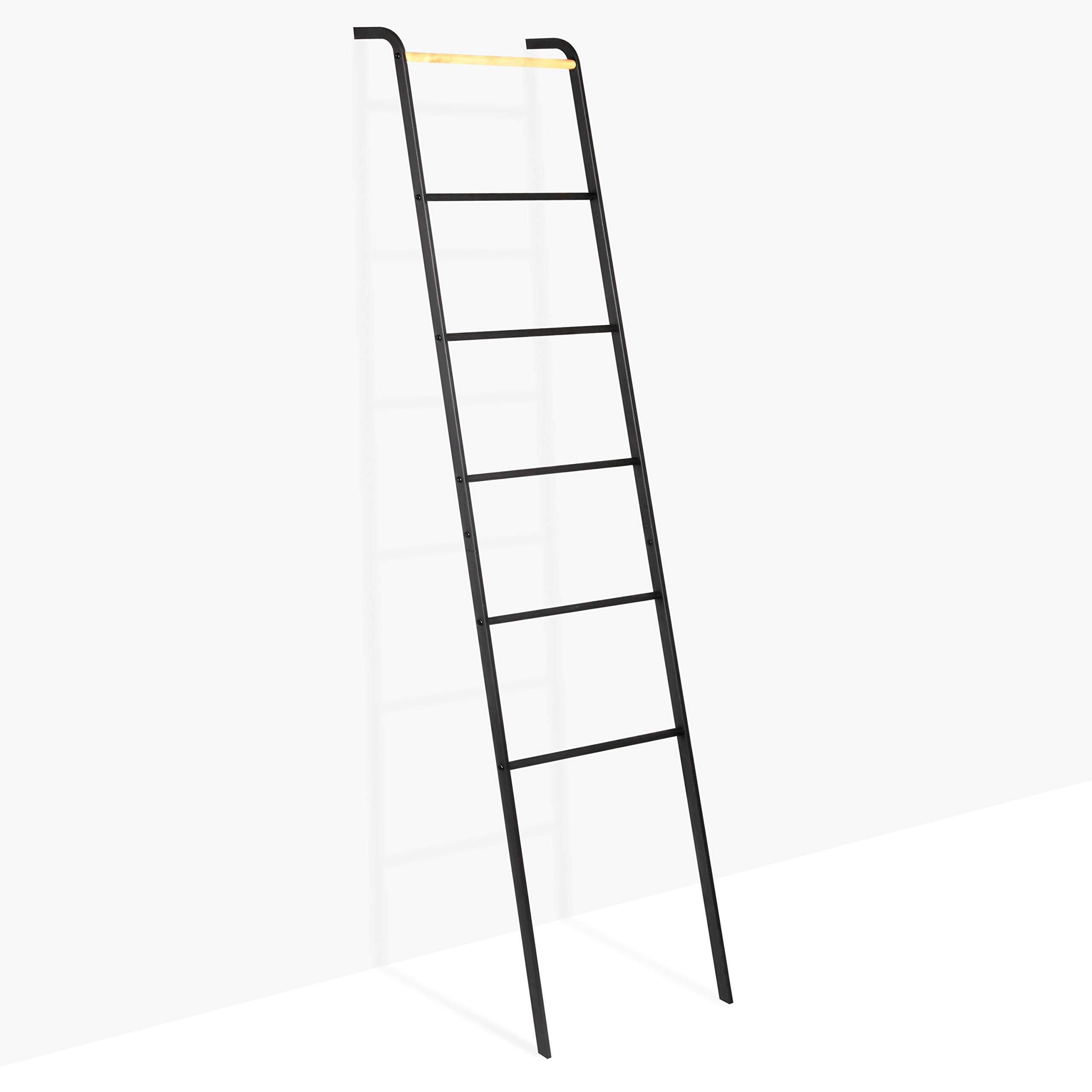 Brightech – Escalera decorativa Mila – Accesorio de metal y madera resistente para interior y exterior jardín porche patio – Negro azabache: Amazon.es: Juguetes y juegos