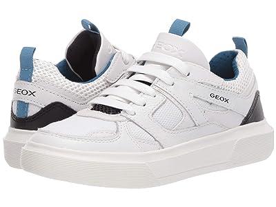 Geox Kids Nettuno 2 (Little Kid) (White/Blue) Boy