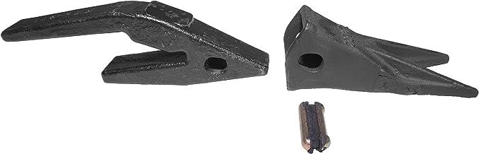 Titan Attachments Set of (3) 23WTL Twin Tiger Tooth Bucket Assembly w/Shank & T23 Flex Pin