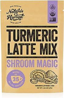 Nature's Harvest Mushroom Powder Turmeric Latte Mix - (35 servings) - Shroom Magic 5 Mushroom Blends with Reishi, Chaga, C...