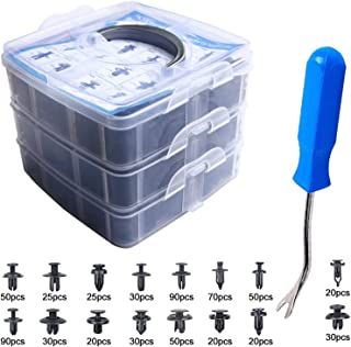 EZYKOO 625Pcs Car Push Retainer Clips & Plastic Fasteners Kit - 16 Most Popular Sizes Auto Push...