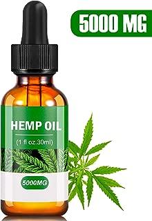 Hemp 5000 MG Extract for Pain, Anxiety & Stress Relief- Helps with Sleep, Skin & Hair