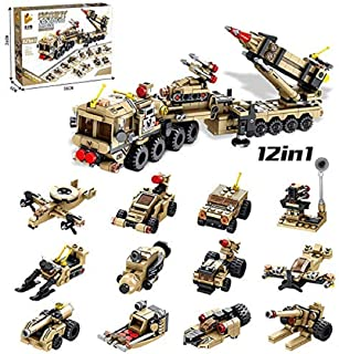 Chocozone 12 in 1 Patriot Air Defence Missile Building Blocks Toys for 8 Years Old Boys and Girls ( 549 Pcs) Building Toys