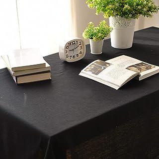 YUANYOU Tovaglia rettangolare in cotone e lino per tavolo da interni ed esterni, per matrimoni, feste, ristoranti, caffett...