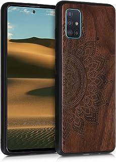 kwmobile Schutzhülle kompatibel mit Samsung Galaxy A51   TPU Bumper   Aufgehende Sonne Dunkelbraun