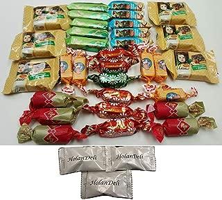 Assorted Russian Candy (Alenka, Grilyazh, Batonchik, Korovka, Romashka, Honey Mishka Grilyazh)