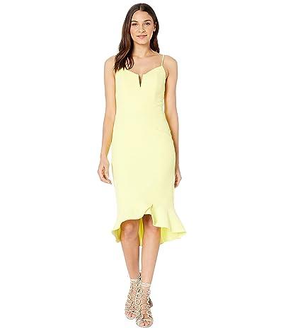Bardot Kristen Peplum Dress (Lemon Drop) Women