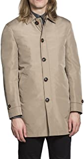 HARRY BROWN Rain Mac with Detachable Lining in Toffee & Dark Blue S to 3X