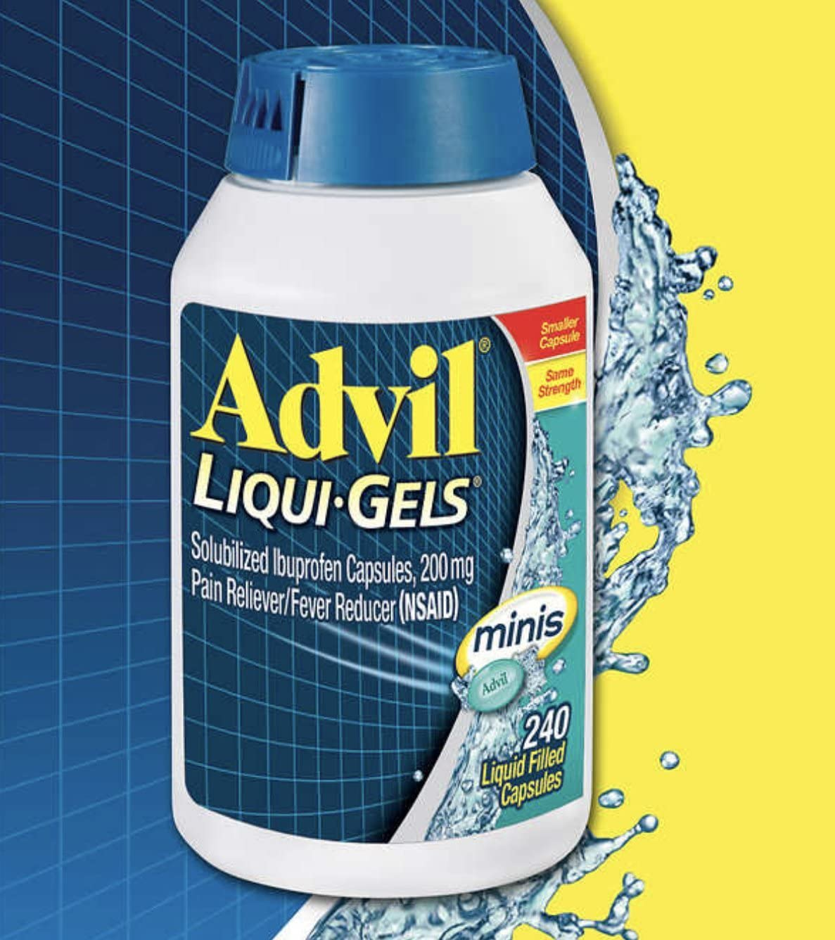 Weekly update Advil Liqui-Gels Minis Max 75% OFF 240 Count Pain Reliever L Reducer Fever