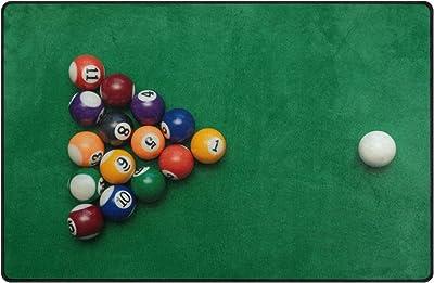 Use7 American Billiards - Alfombra Antideslizante para Dormitorio Infantil, Color Verde, Tela, 100 x 150 cm(3 x 5 ft): Amazon.es: Hogar