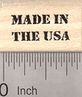 Made in The USA Rubber Stamp, Tiny Text Saying