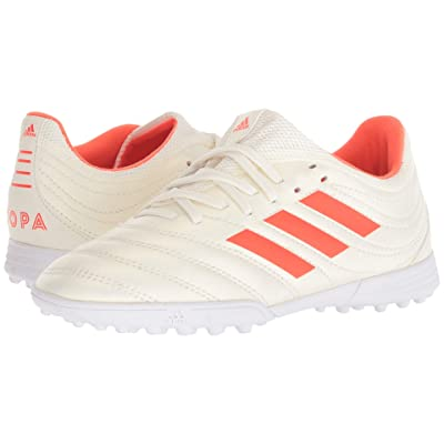 adidas Kids Copa 19.3 TF Soccer (Little Kid/Big Kid) (Off-White/Solar Red/White) Kids Shoes
