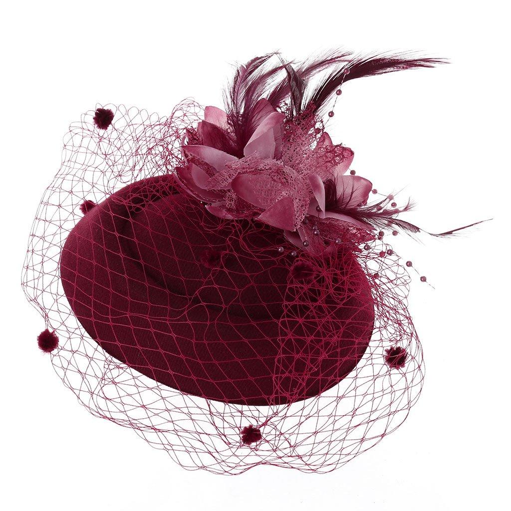 Fascinators Hair Clip Headband Pillbox Hat Bowler Feather Veil Wedding Party
