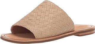FRYE Women's Robin Woven Slide Flat Sandal cream 9.5 M US