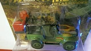 Tonka Jeep Brand Metal Diecast Bodies Jeep CJ7 Special Edition Green