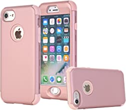 iPhone 7 Case, SUMOON [Drop Protection] Hybrid Heavy Duty Three Layer Verge Shockproof Full-Body Protective Armor Defender Case for Apple iPhone 7 2016 Release (Rose Gold)
