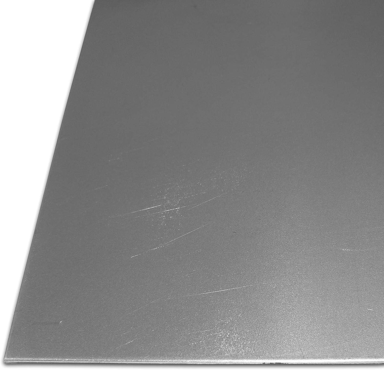 Feinblech DX51 im Zuschnitt Gr/ö/ße 30 x 90 cm B/&T Metall Stahl-Blech verzinkt St 1203 1,0 mm stark 300 x 900 mm