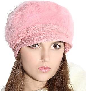 Winter Hat Warm Knit Snow Ski Womens Beanie Hat Cap With Visor