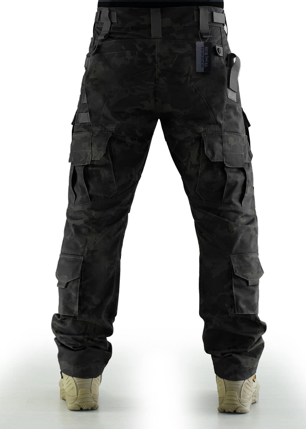 ZAPT Breathable Ripstop Fabric Pants Military Combat Multi-Pocket Molle Tactical Pants with EVA Knee Pads
