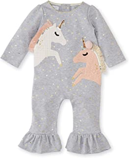 Mud Pie Baby Girl's Unicorn Ruffle One-Piece Playwear Set (Infant)