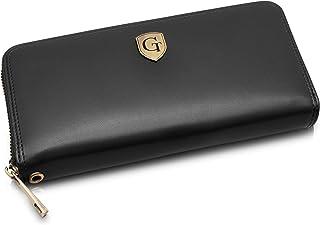 GenTo® Milan - Gran Billetera para Damas con protección RFID y NFC - Billetera XL con Muchos Compartimentos - Regalo para ...