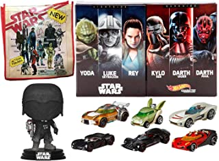Use The Force Light & Dark Side Exclusive Character Cars Box Set Bundled with Star Wars: Knight of Ren Figure & Retro Toy ...
