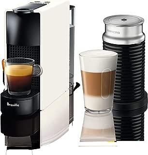 Nespresso Essenza Mini Original Espresso Machine Bundle with Aeroccino Milk Frother(Renewed) (Pure White)
