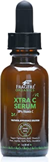 FRAGFRE Organic Vitamin C Serum 20% 1 oz - with Vegan Hyaluronic Acid, Vitamin E, Organic Aloe and Jojoba - Anti Wrinkle A...