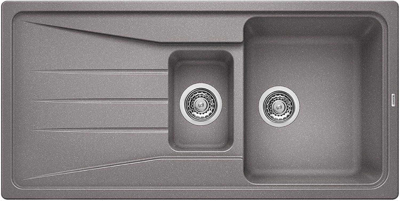 Weiß Silgranit Sona 6 S, Küchenspüle alumetallic
