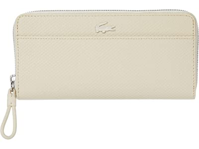 Lacoste Chantaco Long Zip Wallet (Cement/Blizzard/Canary/White/Mother-of-Pearl/Michigan) Handbags