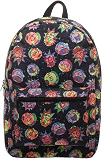 RICK AND MORTY Cosmic Psychedelic Expressions Sublimated Backpack - Bioworld