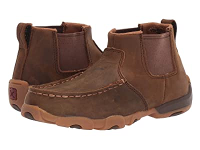 Twisted X Driving Moc Gore (Little Kid/Big Kid) (Distressed Saddle) Shoes