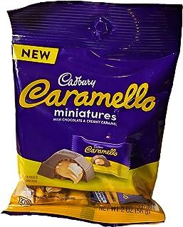 (1) 2 oz Mini Bag Cadbury Caramello Miniatures -Milk Chocolate and Creamy Caramel- Single Serving Bag