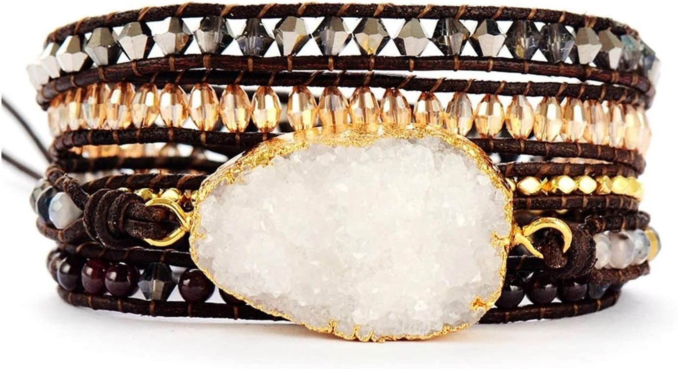 AOSUAI Womens Bracelets Unique C Natural Crystals Fort Worth Mall 2021new shipping free shipping Stones