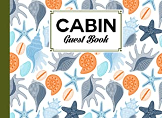 """Cabin Guest Book: shells Cover Cabin Guest Book, Welcome to our cabin, 150 pages - 8.25"""" x 6"""" Guest Log Book for Vacation ..."""