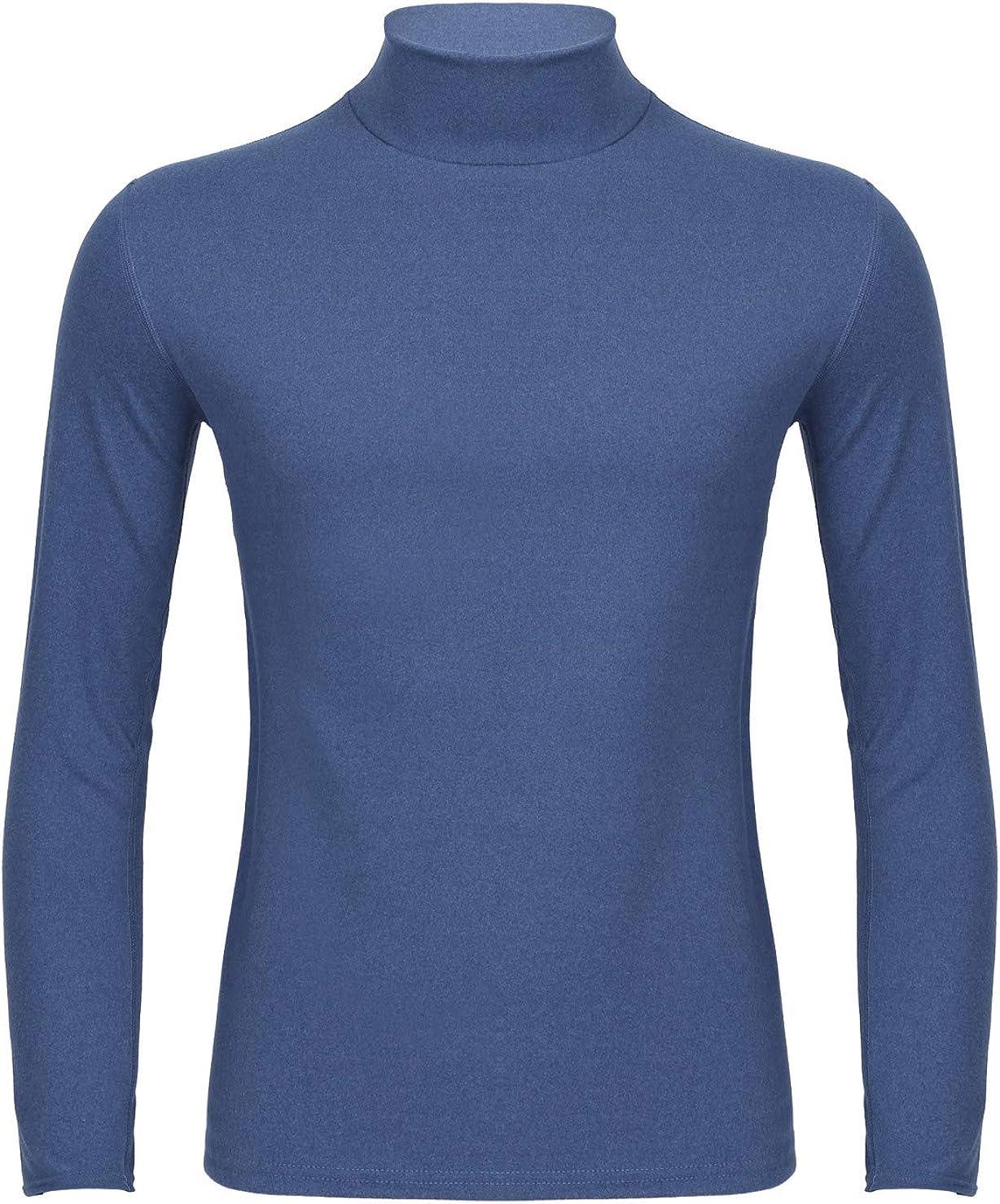 XUNZOO Mens Thermal Baselayer Turtleneck Long Sleeve Top Breathable Thermal Undershirt Underwear Tops