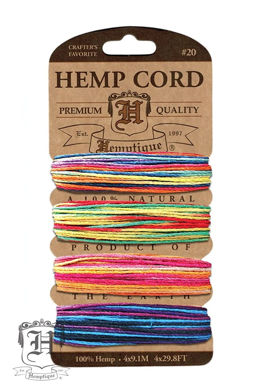 Hemptique HC20V-VAR3 Hemp Variegated Cord, 120-Feet