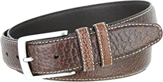 Genuine Bison Leather Casual Dress Belt Made in USA 1-3/8