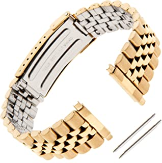 Gilden Gents Jubilee-Style Non-Expansion 18-22mm Extra-Long Stainless Steel Watch Band 1542