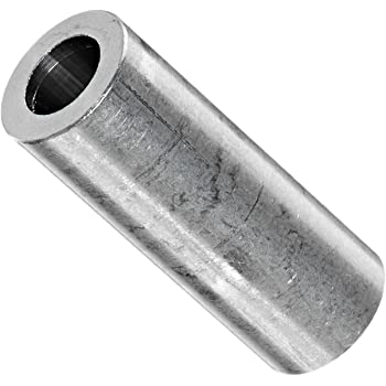 1 Length #12 Screw Size Plain Finish Pack of 10 Round Spacer 0.218 ID Aluminum 3//8 OD