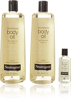 Neutrogena Body Oil Light Sesame Formula Sesame Oil, 16 fl. oz/pack - (pack of 2) + Bonus 1 fl. oz. Bottle