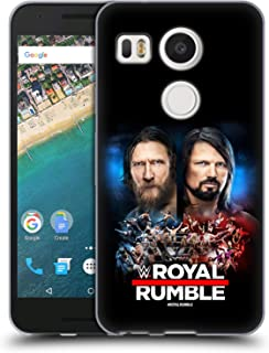 Official WWE Daniel Bryan and AJ Styles 2019 Royal Rumble Soft Gel Case Compatible for LG Nexus 5X
