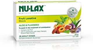 Nulax Platinum Formula Fruit Laxative Block 280g - Contains Fruits, Aloe & Flaxseed for Constipation Relief