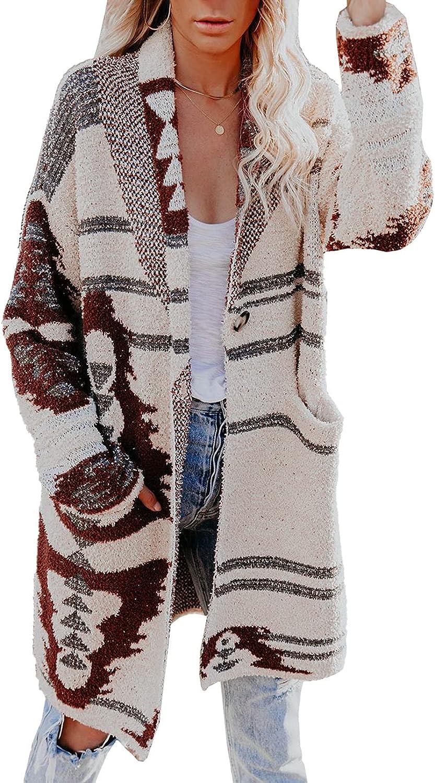 Very popular Astylish Womens Long Sleeve Oversized Cardigan Warp Kni Price reduction Longline