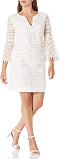 فستان للنساء من ترينا ترك بتصميم Loomis مطرز على شكل جرس بأكمام